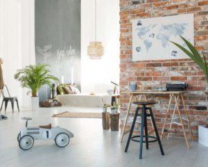 Brick in living room