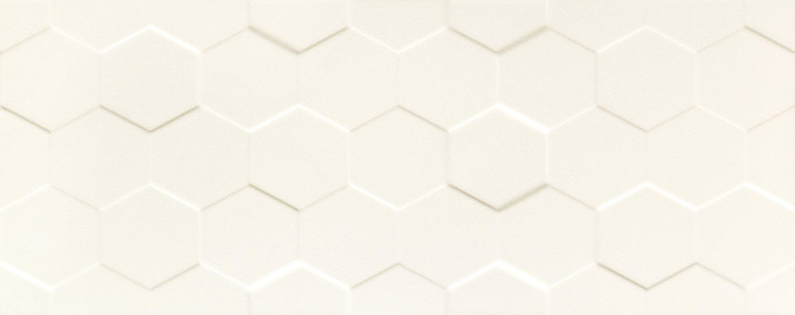 Elementary White Hex Str 12x30